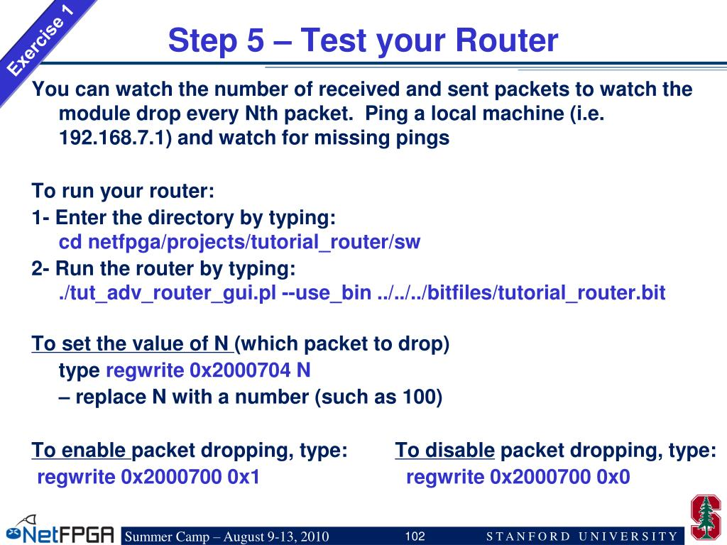 Step 5 – Test your Router
