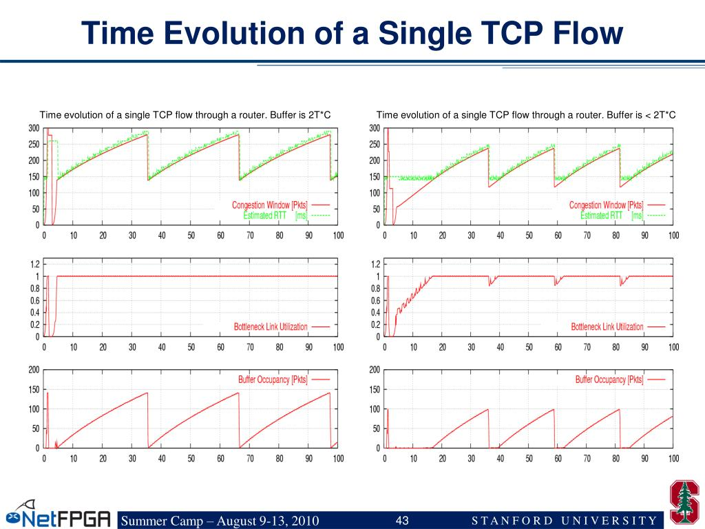 Time Evolution of a Single TCP Flow