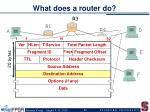 what does a router do
