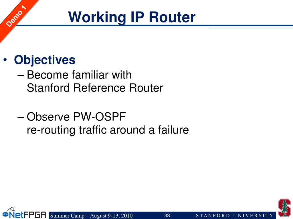 Working IP Router