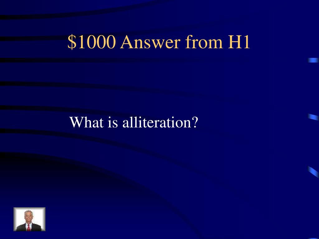 $1000 Answer from H1