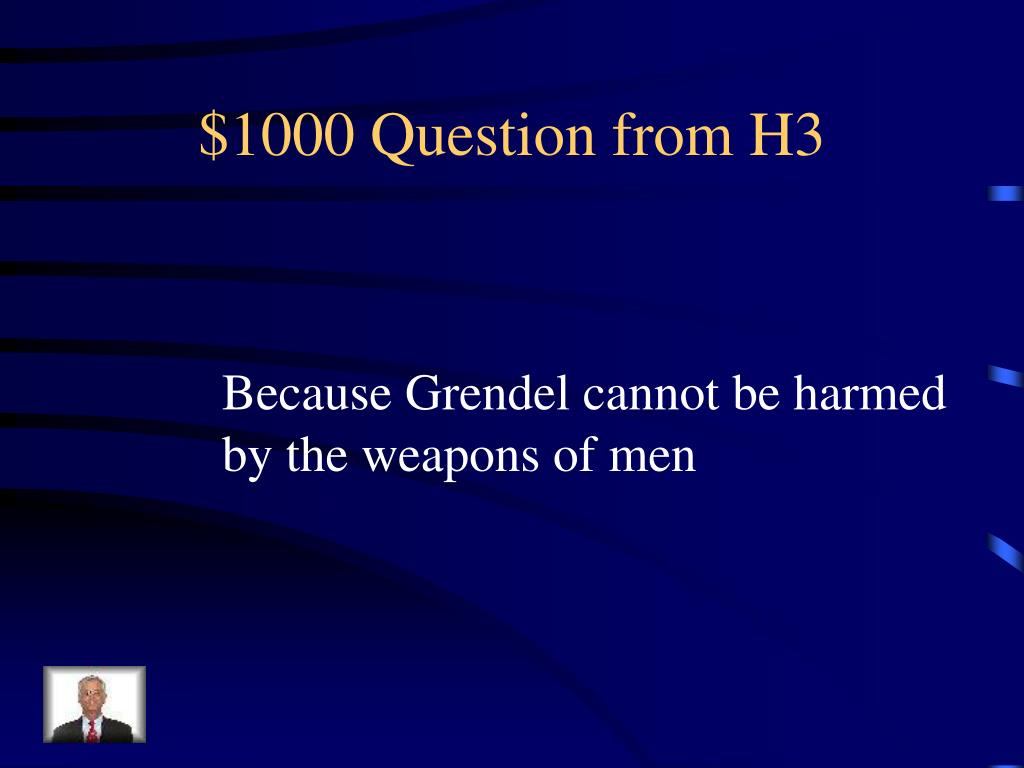 $1000 Question from H3