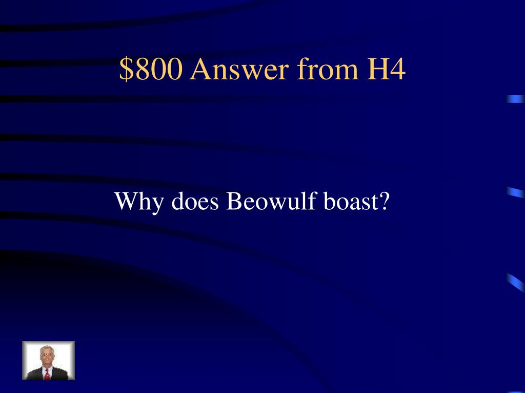 $800 Answer from H4