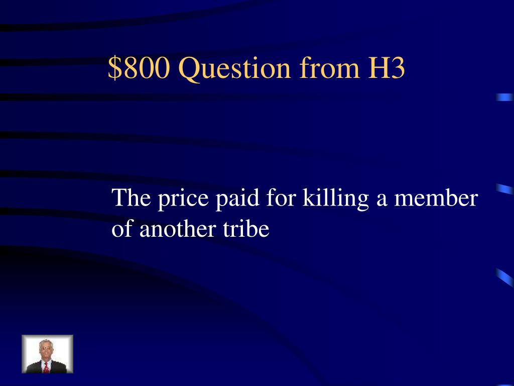 $800 Question from H3