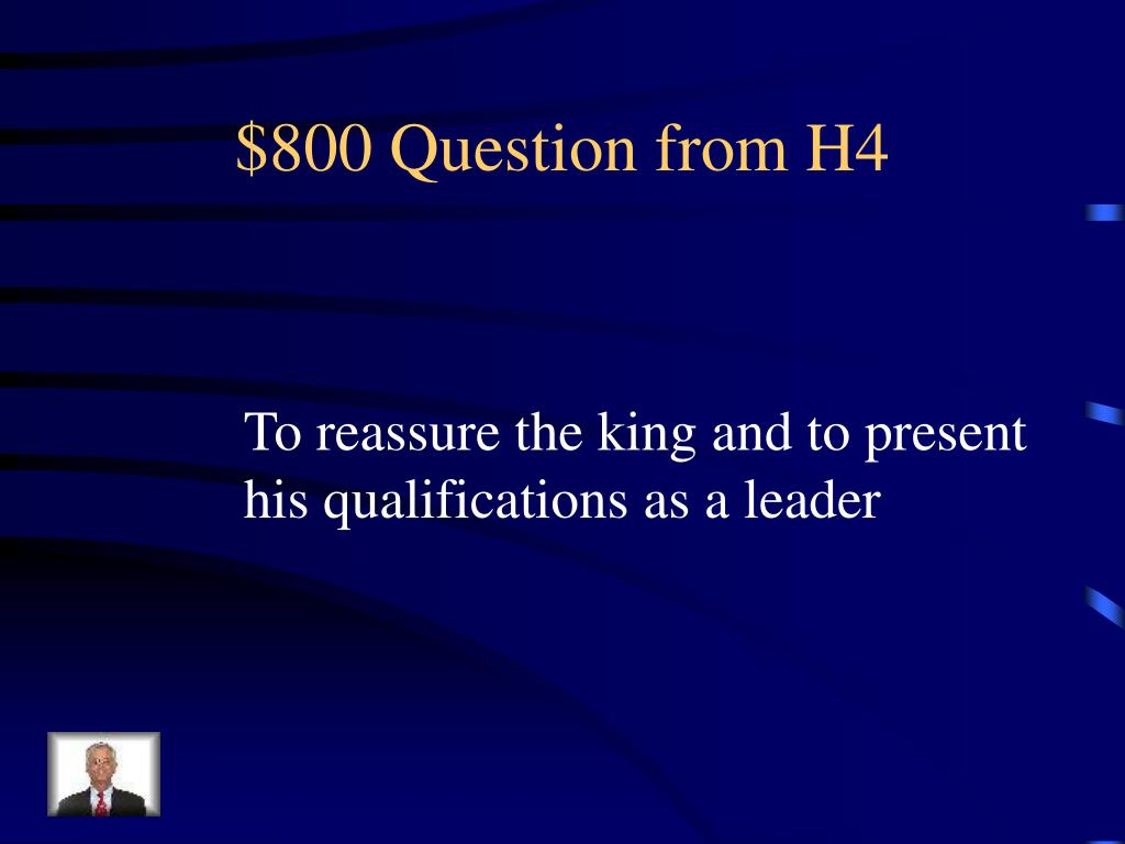 $800 Question from H4