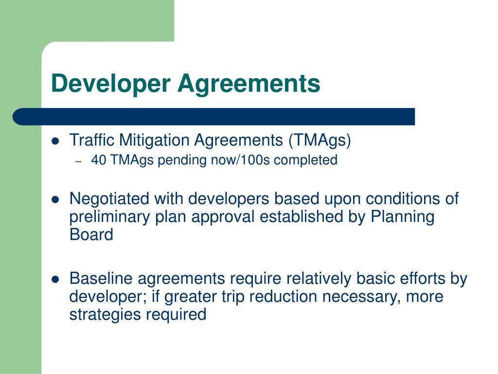 Developer Agreements
