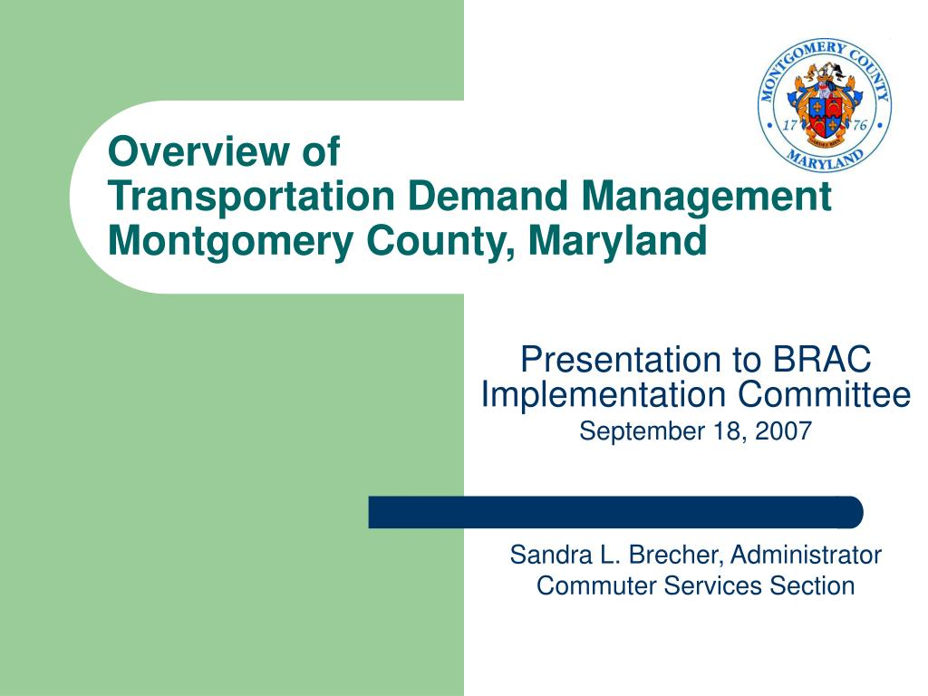 ppt overview of transportation demand management