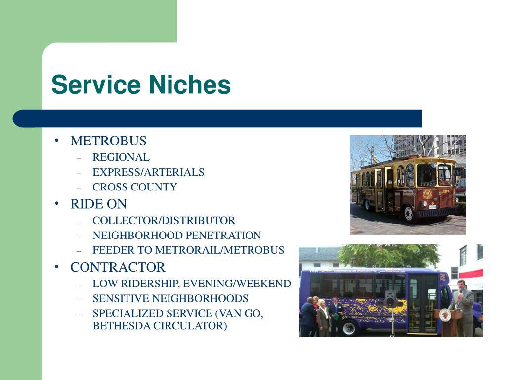 Service Niches