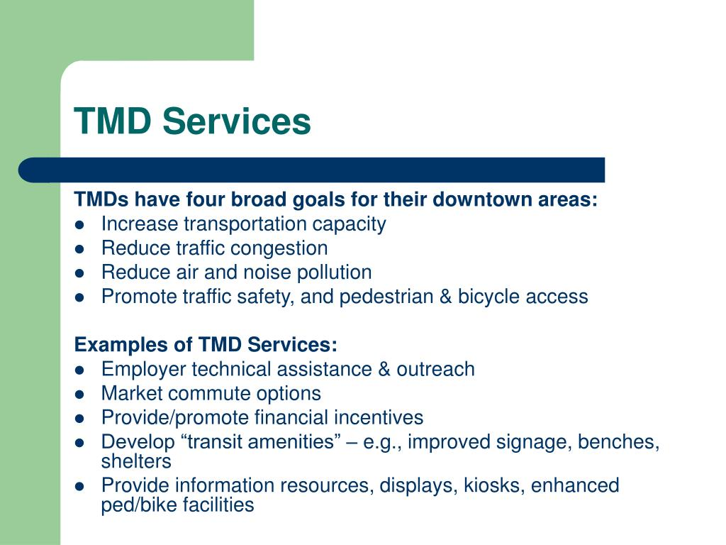 TMD Services