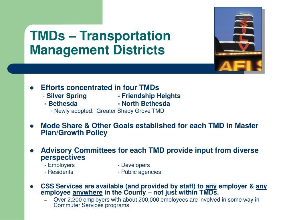 TMDs – Transportation