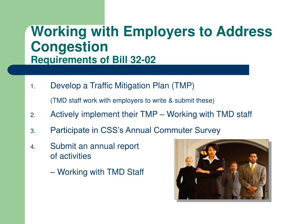 Working with Employers to Address Congestion