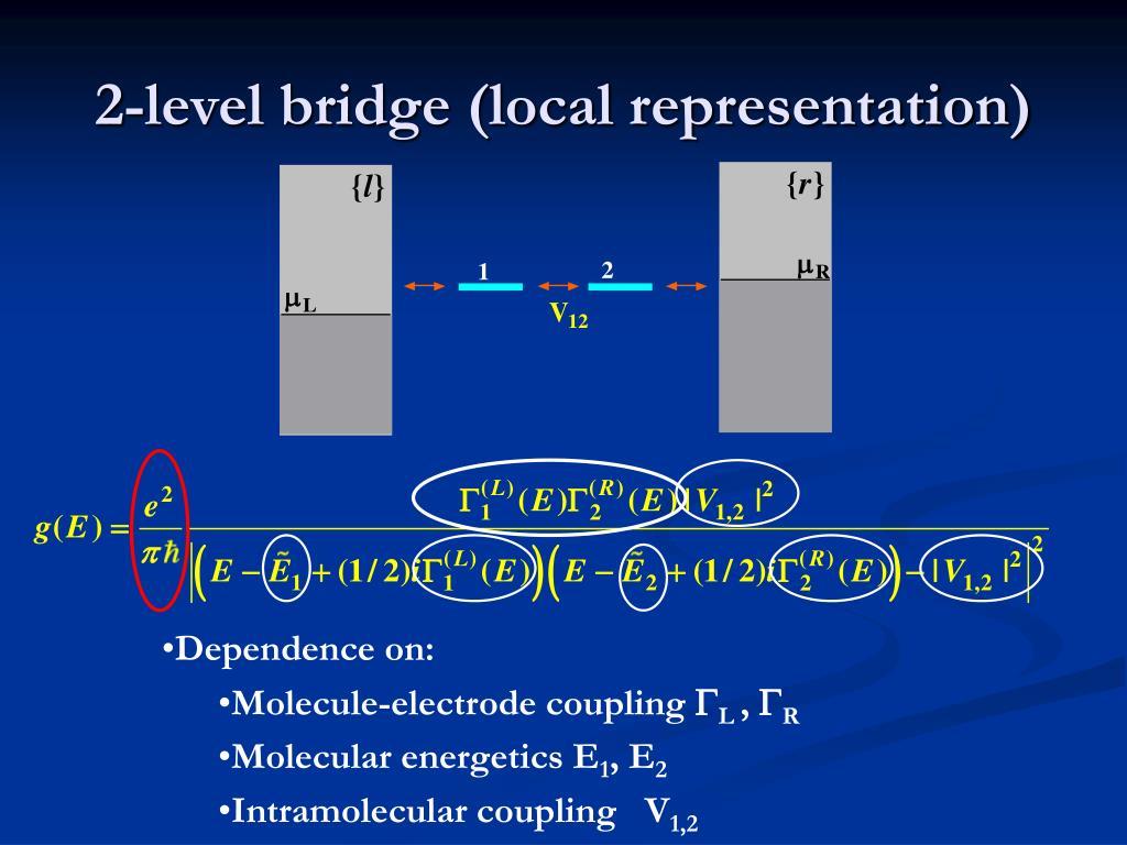 2-level bridge (local representation)