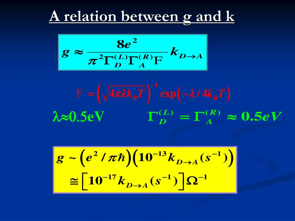 A relation between g and k