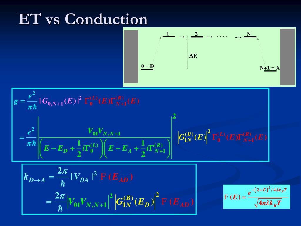 ET vs Conduction