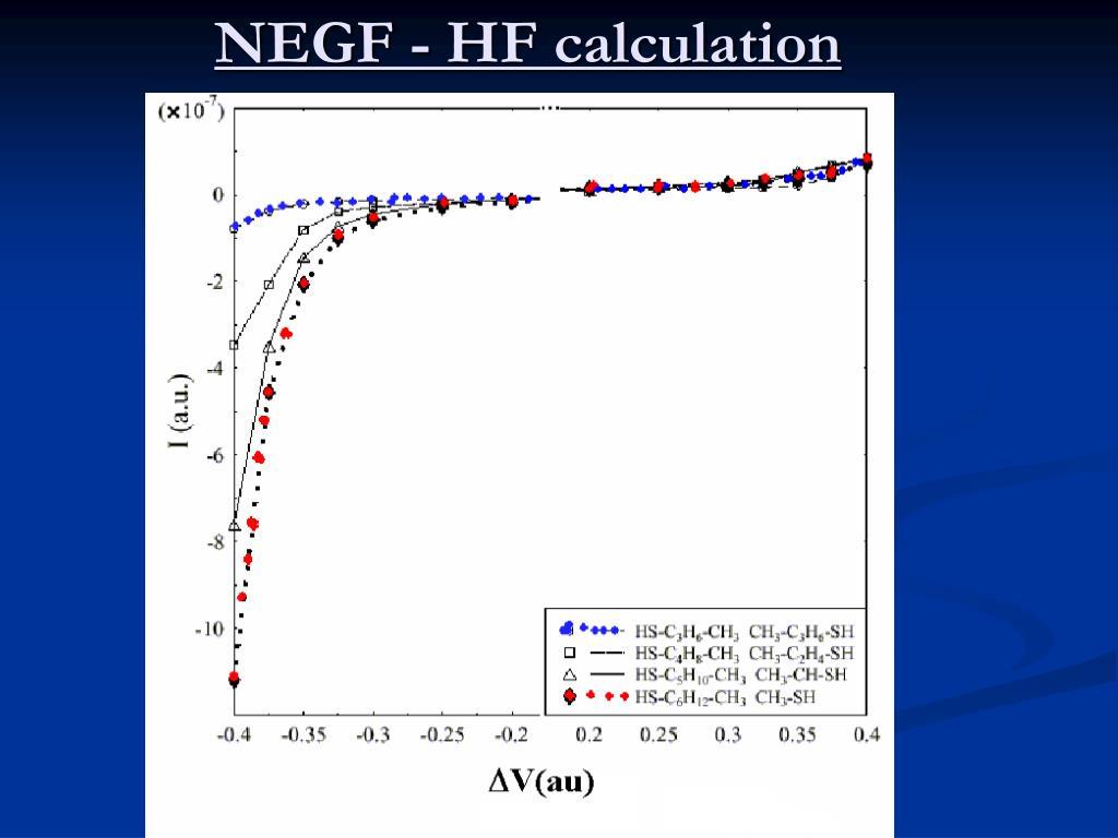 NEGF - HF calculation