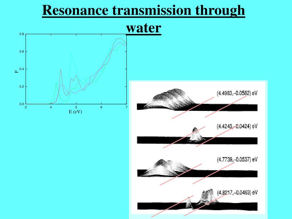 Resonance transmission through water