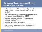 corporate governance and board composition continued13