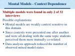 mental models context dependence