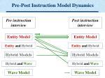 pre post instruction model dynamics