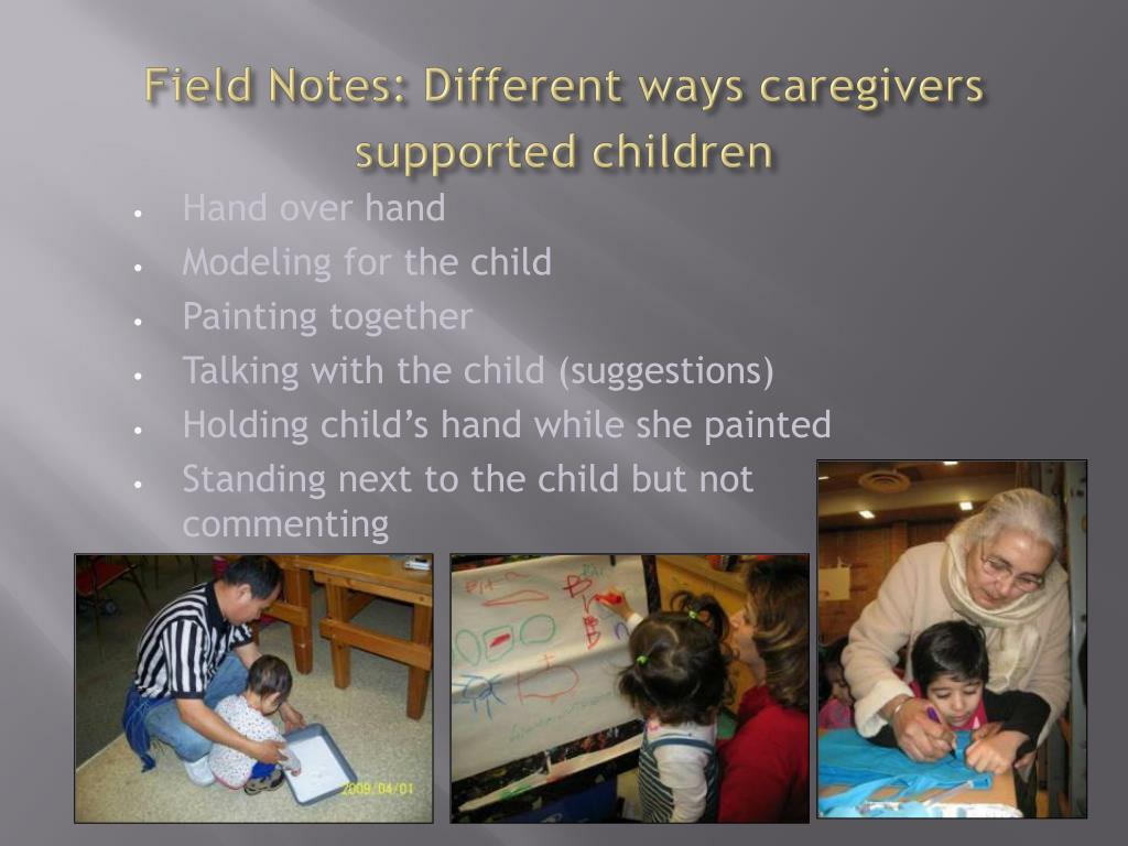 Field Notes: Different ways caregivers supported children