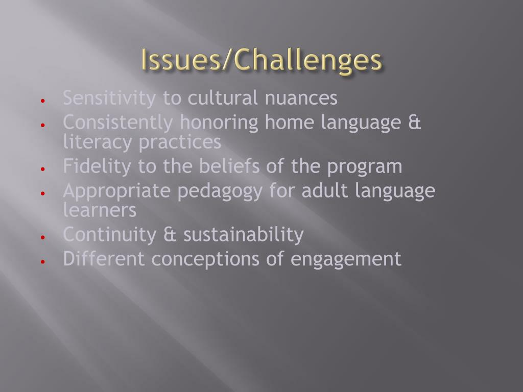 Issues/Challenges
