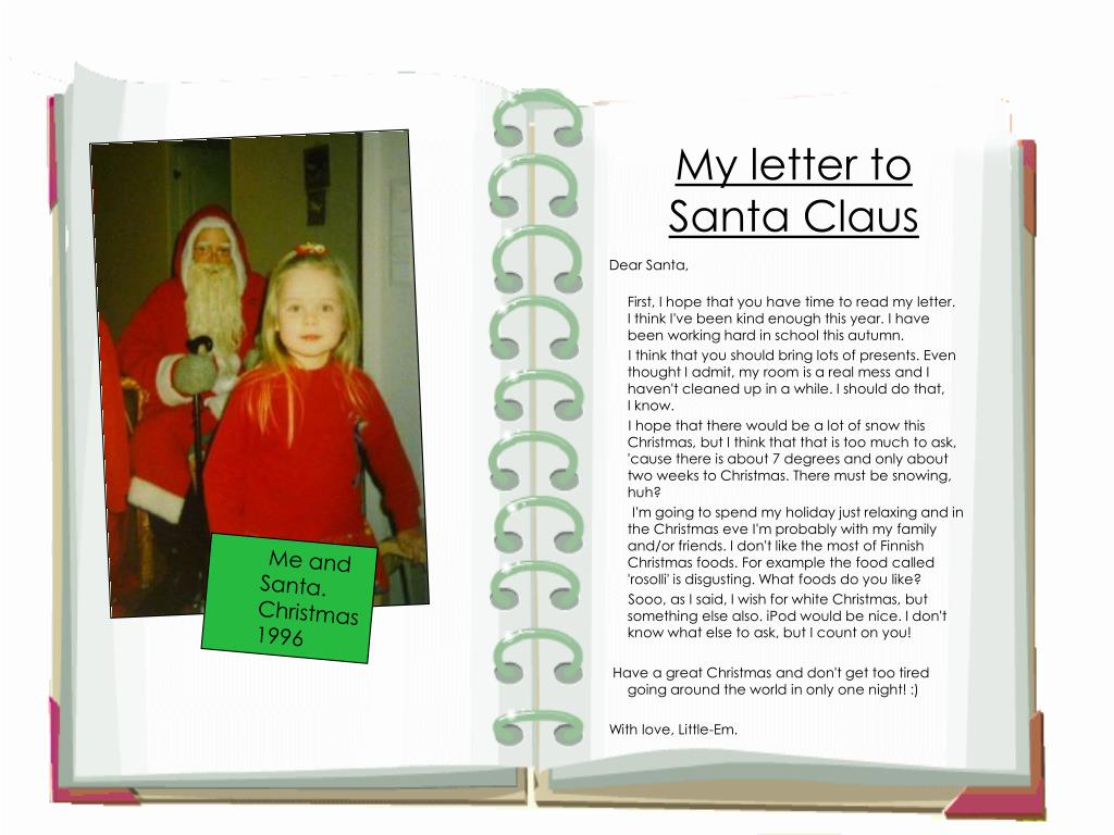 My letter to Santa Claus