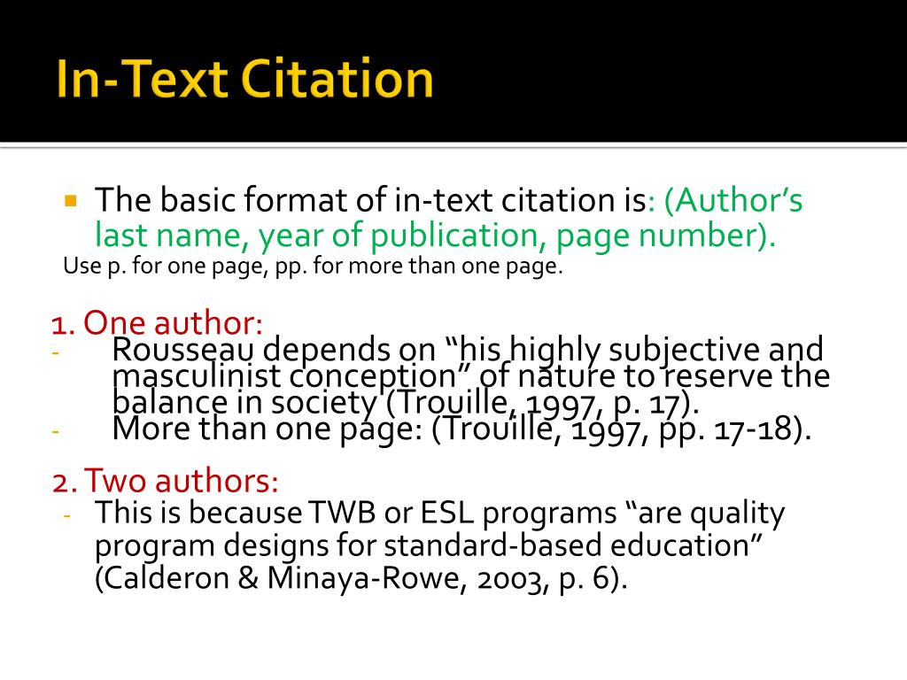 In-Text Citation