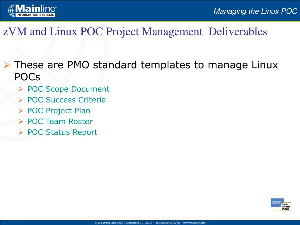 Managing the Linux POC