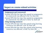 impact on course related activities13