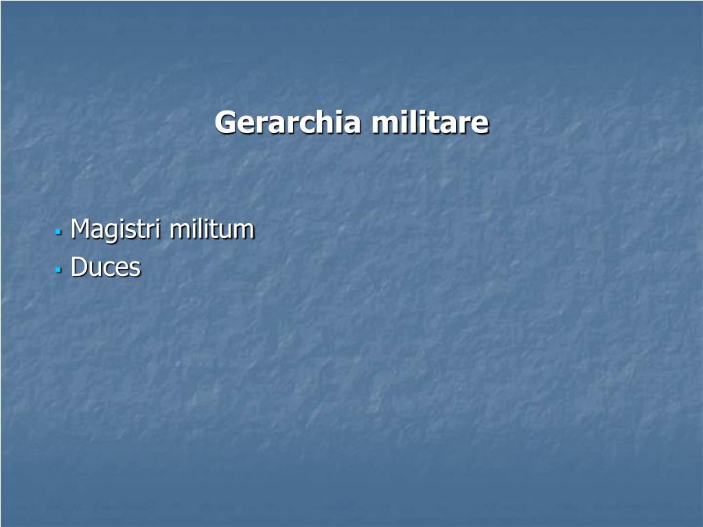 Gerarchia militare