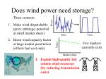 does wind power need storage
