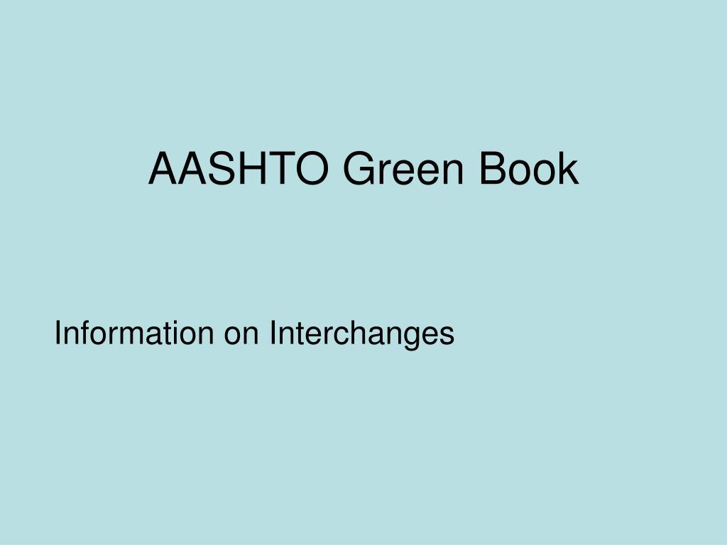 aashto green book l.