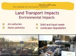 land transport impacts