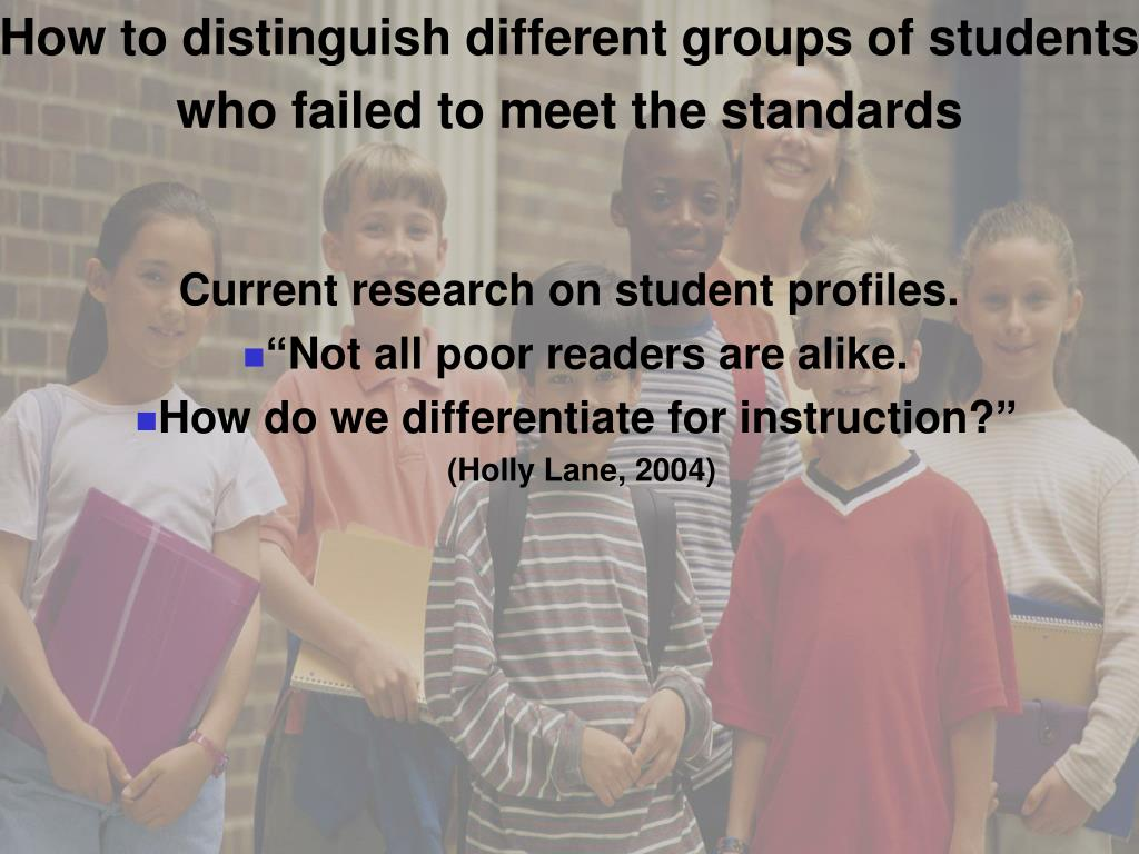 How to distinguish different groups of students