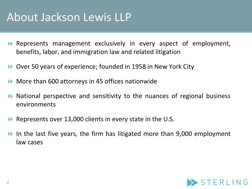 About Jackson Lewis LLP