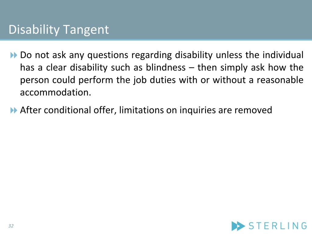 Disability Tangent