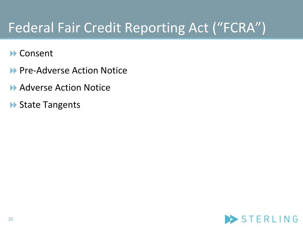 "Federal Fair Credit Reporting Act (""FCRA"")"
