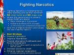 fighting narcotics