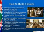 how to build a state