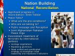 nation building national reconciliation
