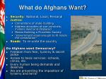 what do afghans want