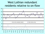 west lothian redundant residents relative to on flow