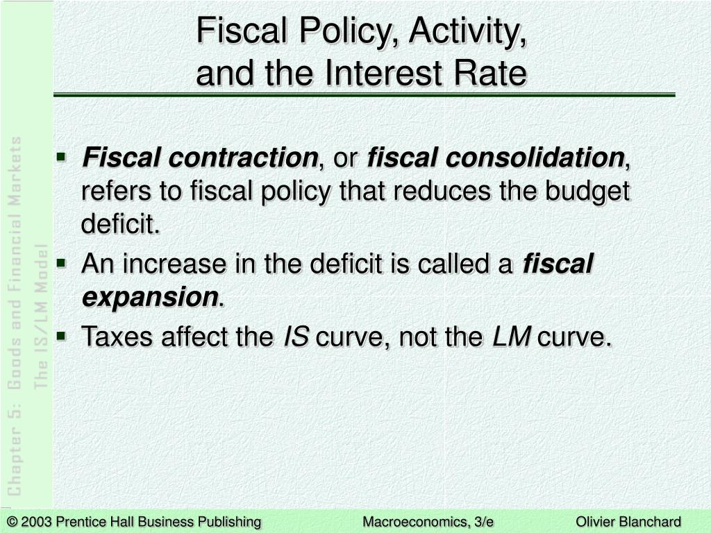 Fiscal Policy, Activity,