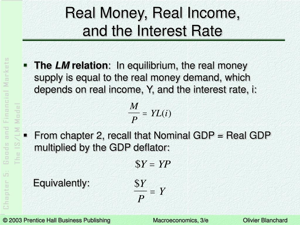 Real Money, Real Income,
