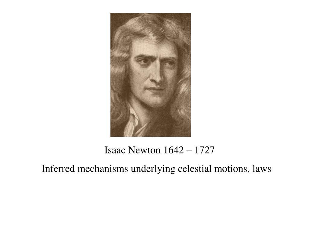 Isaac Newton 1642 – 1727