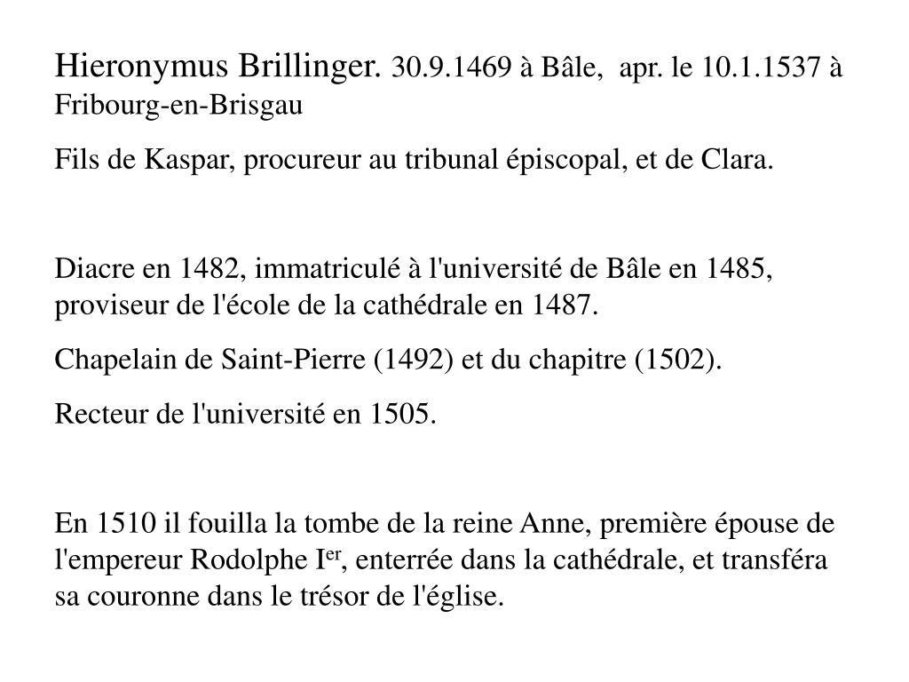 Hieronymus Brillinger.