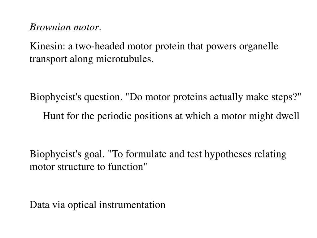 Brownian motor