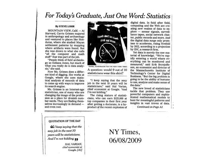 NY Times, 06/08/2009