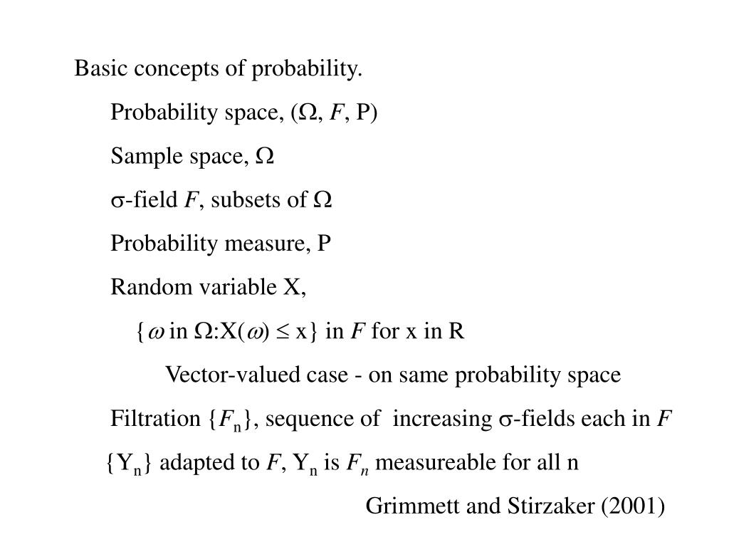 Basic concepts of probability.