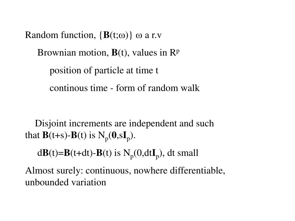 Random function, {